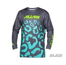 ALIAS A2 Youth Cheetah Jersey Grey Seafoam Size L