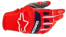 ALPINESTARS Techstar Gloves Bright Red / White / Dark Blue