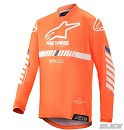 ALPINESTARS Youth Racer Tech Jersey Orange Fluo / White / Blue