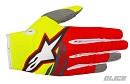 ALPINESTARS Radar Flight Gloves YELLOW FLUO RED ANTHRACITE Size L
