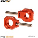 RFX Pro Rear Axle Adjuster Blocks KTM125-525 05-12 ORANGE